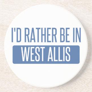 Eu preferencialmente estaria em West Allis Porta Copos De Arenito