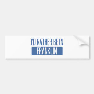 Eu preferencialmente estaria em WI de Franklin Adesivo Para Carro
