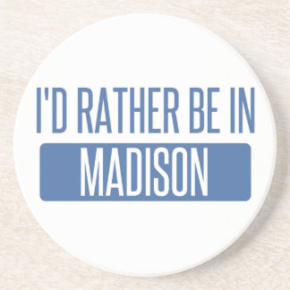 Eu preferencialmente estaria em WI de Madison Porta Copos De Arenito
