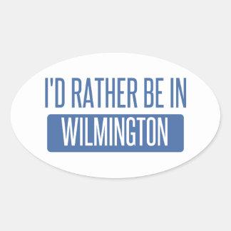 Eu preferencialmente estaria em Wilmington DE Adesivo Oval