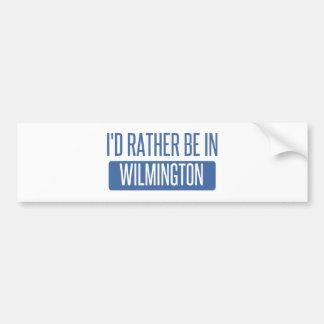 Eu preferencialmente estaria em Wilmington DE Adesivo Para Carro