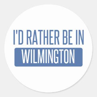 Eu preferencialmente estaria em Wilmington DE Adesivo Redondo