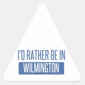 Eu preferencialmente estaria em Wilmington DE Adesivo Triangular