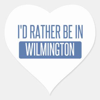 Eu preferencialmente estaria em Wilmington NC Adesivo Coração