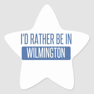 Eu preferencialmente estaria em Wilmington NC Adesivo Estrela