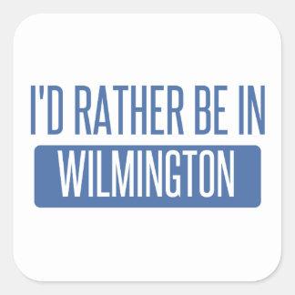 Eu preferencialmente estaria em Wilmington NC Adesivo Quadrado
