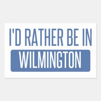 Eu preferencialmente estaria em Wilmington NC Adesivo Retangular