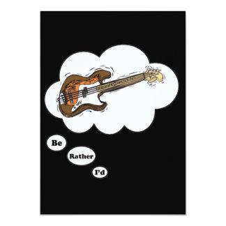 eu preferencialmente estaria jogando a guitarra convites