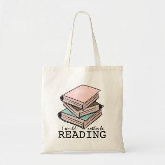 Eu preferencialmente estaria lendo o saco de livro bolsa para compra