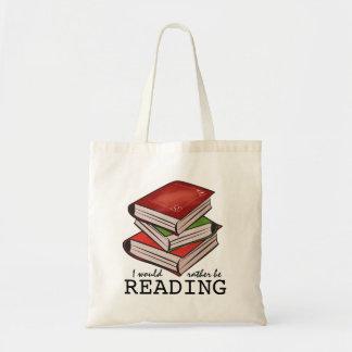 Eu preferencialmente estaria lendo o saco de livro bolsa tote