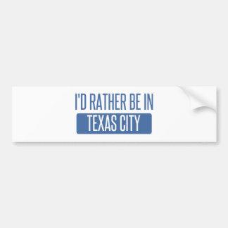 Eu preferencialmente estaria na cidade de Texas Adesivo Para Carro