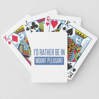 Eu preferencialmente estaria na montagem agradável baralho de cartas