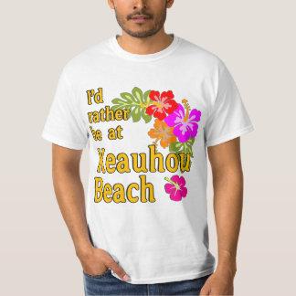 Eu preferencialmente estaria na praia de Keauhou, Camisetas