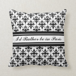 Eu preferencialmente estaria no damasco de Paris Travesseiro De Decoração