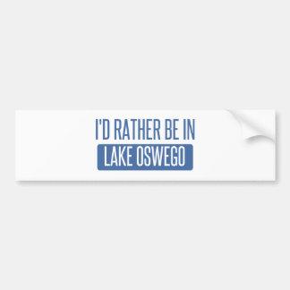 Eu preferencialmente estaria no lago Oswego Adesivo Para Carro