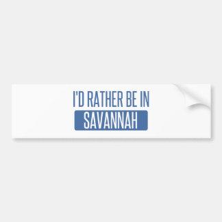 Eu preferencialmente estaria no savana adesivo para carro