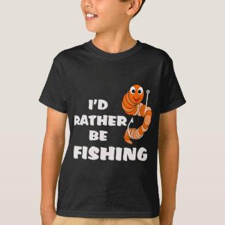 Eu preferencialmente estaria pescando a camisa