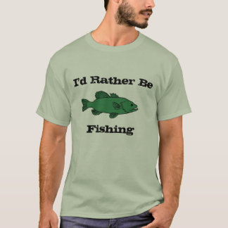 Eu preferencialmente estaria pescando o t-shirt camiseta