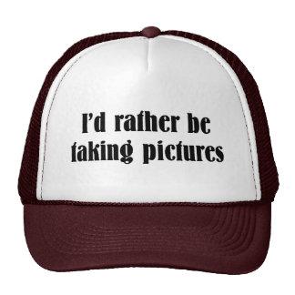 Eu preferencialmente estaria tomando imagens boné