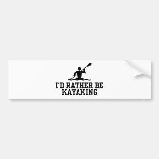 Eu preferencialmente Kayaking Adesivo