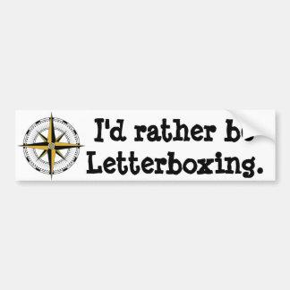 Eu preferencialmente letterboxing adesivo para carro