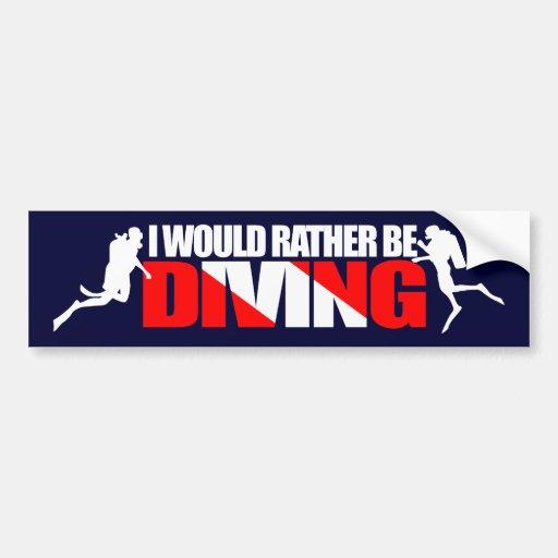 Eu preferencialmente seria Bumpersticker de mergul Adesivos