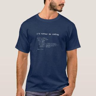 Eu preferencialmente seria camisa da codificação t