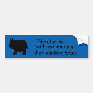 Eu preferencialmente seria com meu mini porco do adesivo para carro