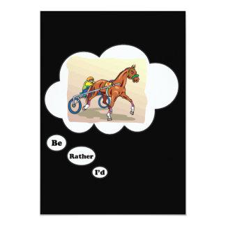 Eu preferencialmente seria corrida de cavalos convite 12.7 x 17.78cm