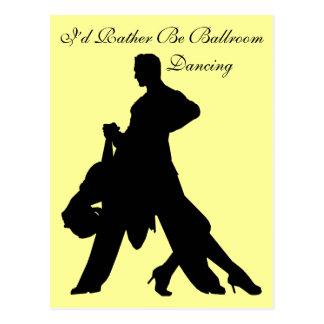 Eu preferencialmente seria dança de salão de baile cartão postal