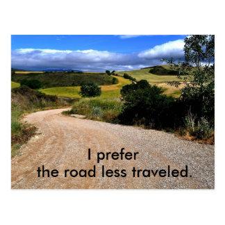 Eu prefiro a estrada viajei menos cartão postal