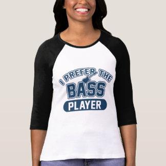 Eu prefiro o baixista camiseta
