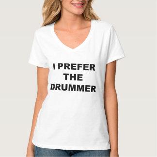 Eu prefiro o baterista - a camisa do Hysterics T-shirt
