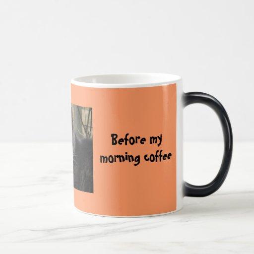 Eu pude também ser a cão-Antes de meu café da manh Caneca