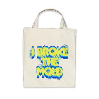 Eu quebrei o saco do molde bolsa