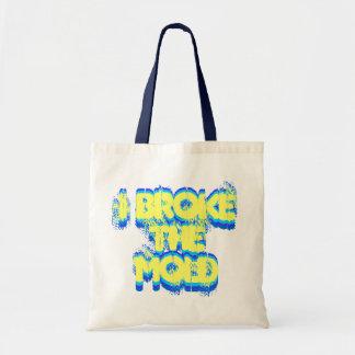 Eu quebrei o saco do molde bolsas de lona
