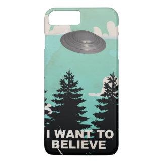 Eu quero acreditar o poster do UFO do vintage Capa iPhone 7 Plus