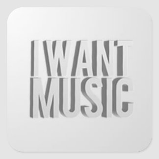 Eu quero etiquetas da música