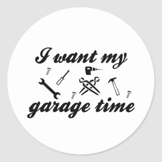 Eu quero meu tempo da garagem adesivo
