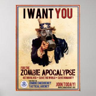 Eu quero-o - apocalipse do zombi pôster