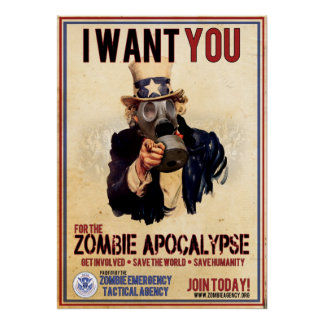 Eu quero-o - apocalipse do zombi - VALOR SUPER Pôster