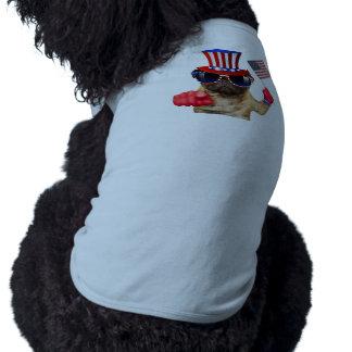 Eu quero-o, pug, cão do tio Sam, Camiseta