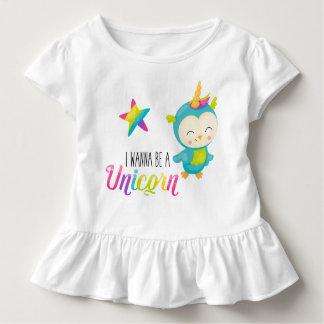 Eu quero ser uma camisa Ruffled do unicórnio