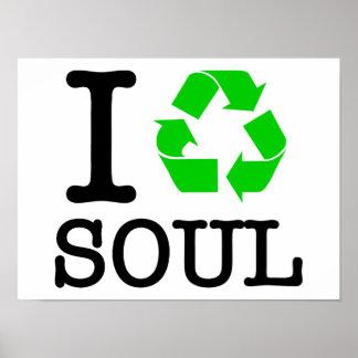 Eu recicl a alma posteres