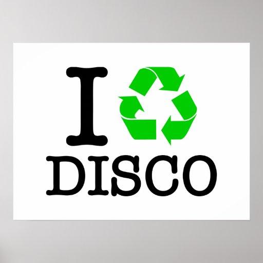 Eu recicl o disco pôsteres