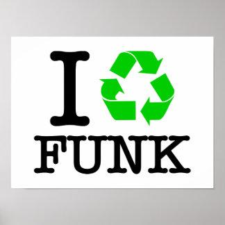 Eu recicl o funk impressão