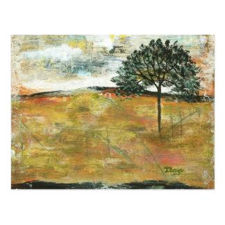 Eu recordarei a arte abstrata da paisagem da cartão postal