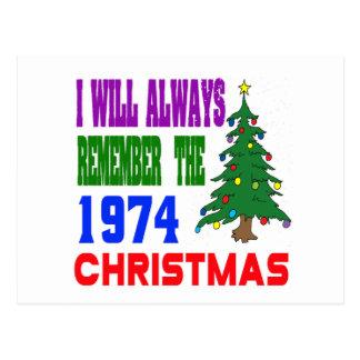 Eu recordarei sempre o Natal 1974 Cartões Postais