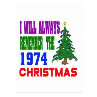 Eu recordarei sempre o Natal 1974 Cartoes Postais