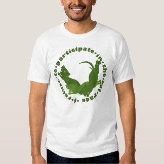 Eu recuso participar na competição desenfreada t-shirt